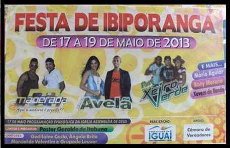 Cartaz da Festa de Ibiporanga 2013