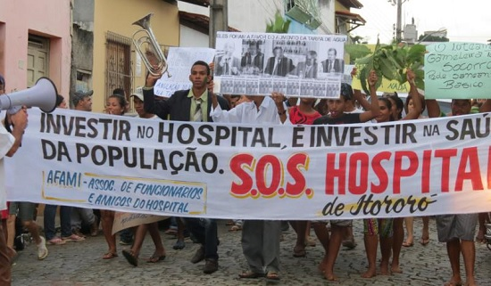 Manifestação em Itororó | Foto: Keile Araújo
