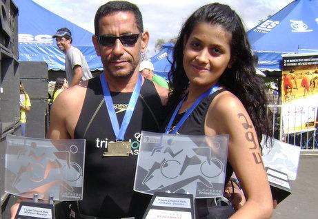 Casal triatletas de Poções | Foto: Portal Poções