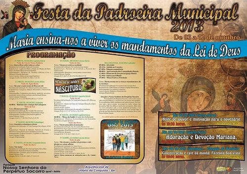 Cartaz da Festa da Padroeira Municipal 2013