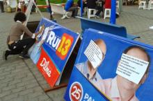 Poções protesto poluição visual