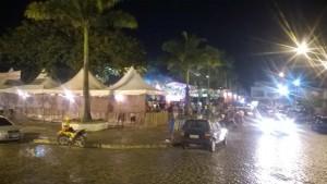Foto do Arraiá Sociá tirada da esquina da igreja católica (Foto IguaíBahia)