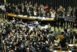 Deputados comemoram aprovação da redução da maioridade - ANDRE COELHO / Agência O Globo