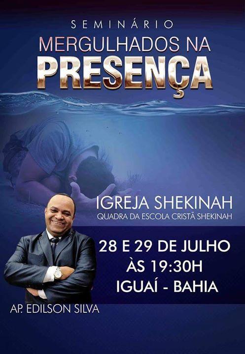 Cartaz Oficial do Seminário.