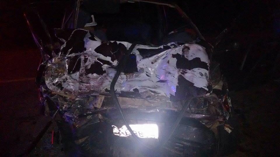 A vitima fatal, estava dirigindo um Fiat Uno (Foto: Reprodução Whatsapp)