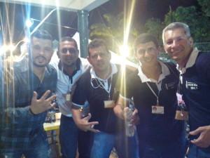 Grande transmissão realizada pela equipe 104.9, com Luan Soares, Gildemar, Marcos Pinto, Ney Miranda e Wendel Oliveira (Foto: Divulgação)