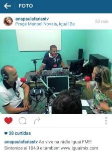 A apresentadora usou seu Instagram para divulgar ainda mais o bate papo. (Foto: Divulgação)