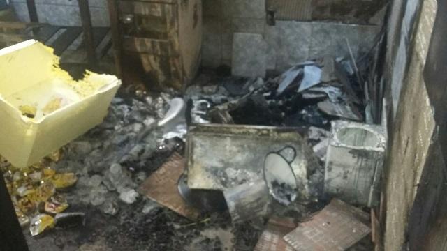 Furto e incêndio no Balneário Guaíra | Foto: Reprodução WhatsApp