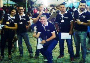 Equipe Iguaí FM, Na Cobertura da Festa de Setembro de 2015. (Foto: Divulgação)