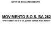 NOTA DE ESCLARECIMENTO SOS BA 262