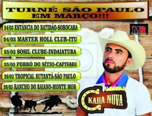 Confira a agenda de Shows em São Paulo da Banda Kara Nova.