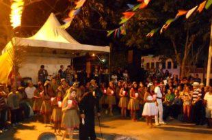 Quadrilha Lumiar do Sertão, durante apresentação no 14º Forró da Melhor Idade.